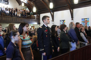 Annie Wright's Veterans Day ceremony packs the chapel