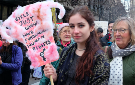 Bella Eisenhart at the women's march in Seattle.