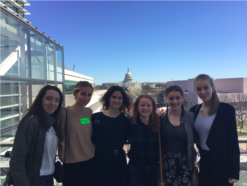 The view of the Capitol from the deck of the Newseum. We followed with a visit to the Washingtonian magazine where we had a brief tour and inspirational discussion regarding the business side of journalism with the President & CEO, Cathy Williams.