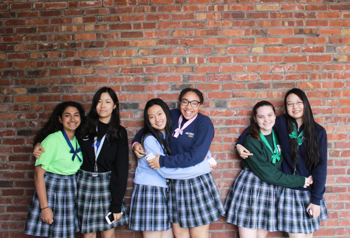 from left to right: Sitara McMillan, Tiffany Wang, Jessy Li, Kayla Mathurin, Aiyana Honeysuckle and Minyi Jiang