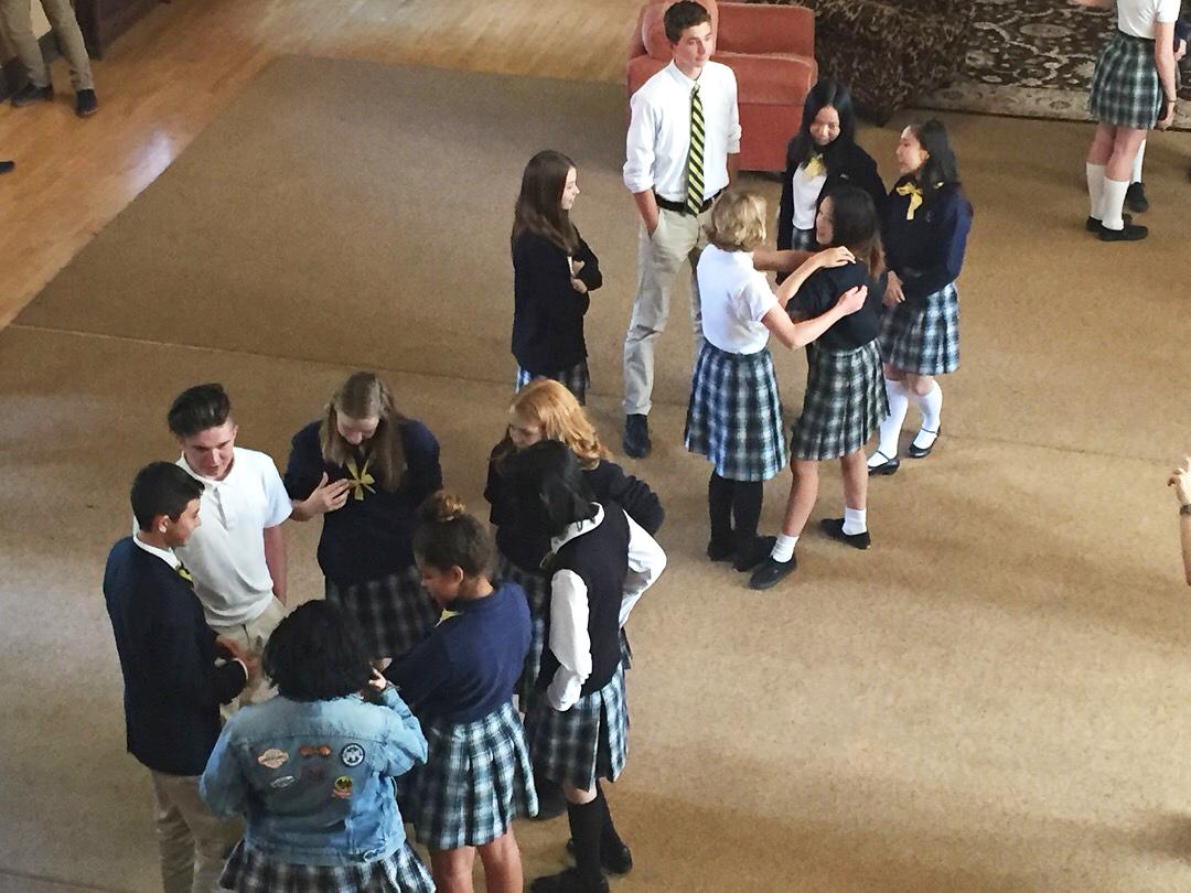 Upper Schools mix at social