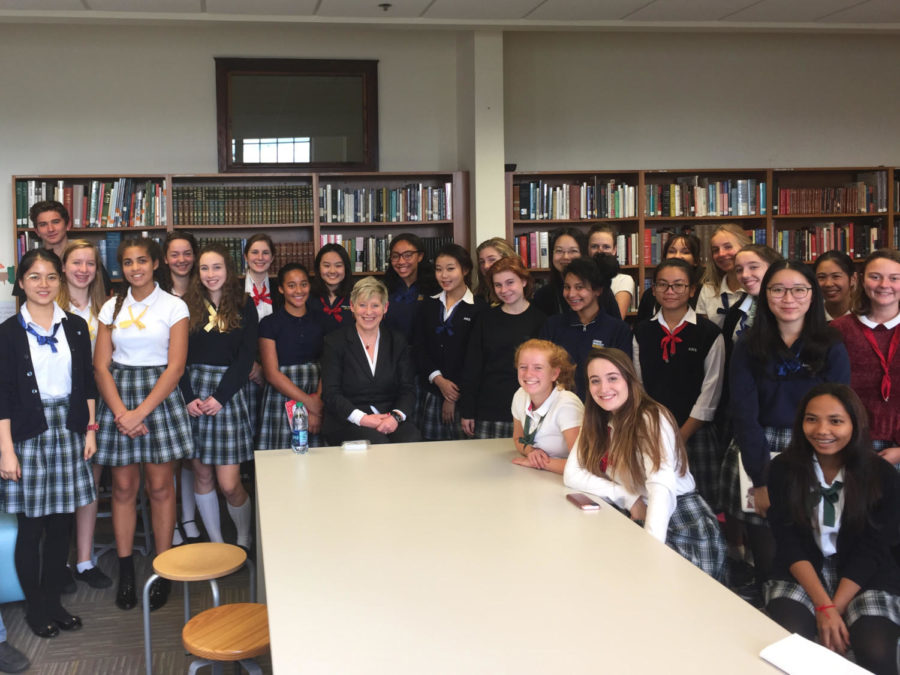 Mayor of Christchurch visits Annie Wright