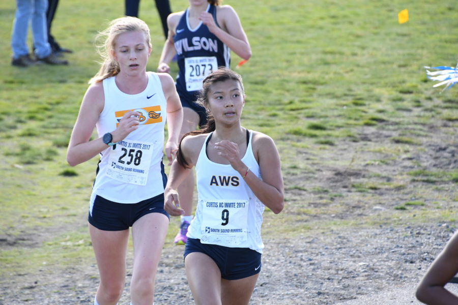 Junior Anna Haddad ran at the Curtis Invitational cross country meet, placing 5th among 155 other Puget Sound high school runners.