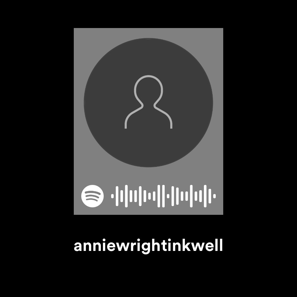 Scan this image in Spotify to access Inkwell's first playlist.