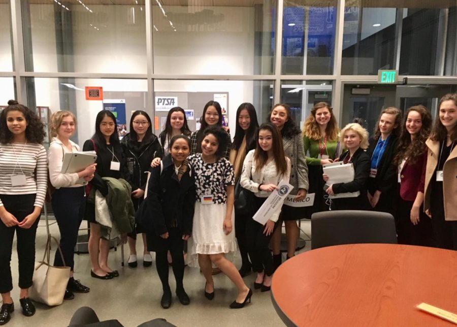 The Upper School Model United Nations and Global Action activity participated in a STEM conference last Saturday. Sophomore Jennifer Wang won