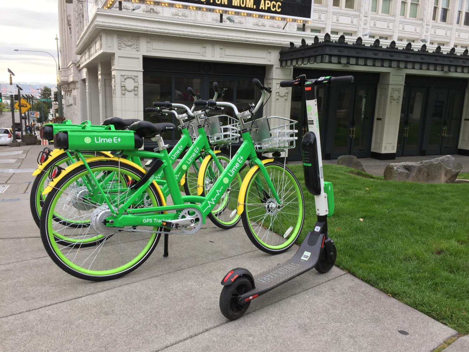 E-Bikes and scooters arrived in Tacoma last Friday.
