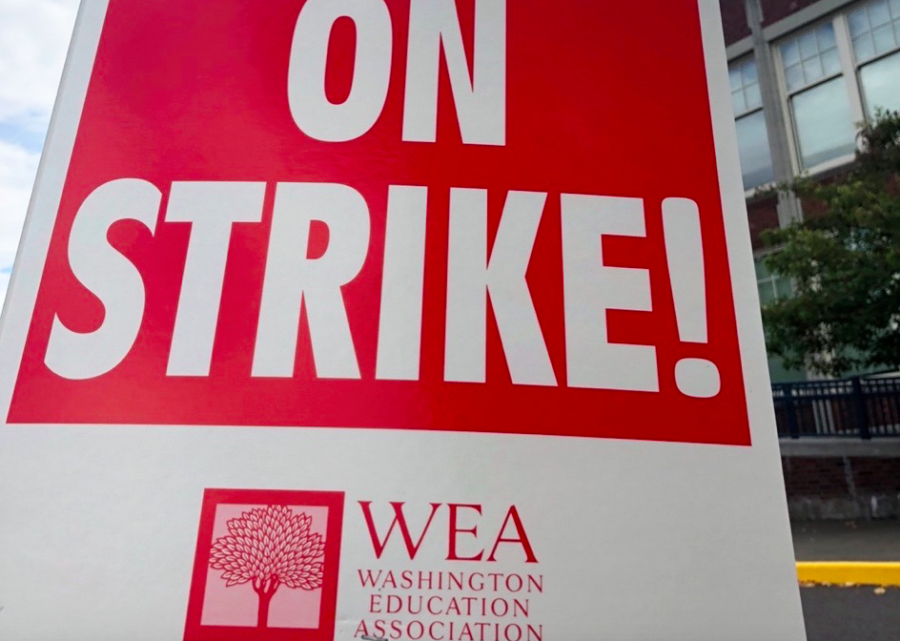 Public school teachers continue to strike over pay in Tacoma.
