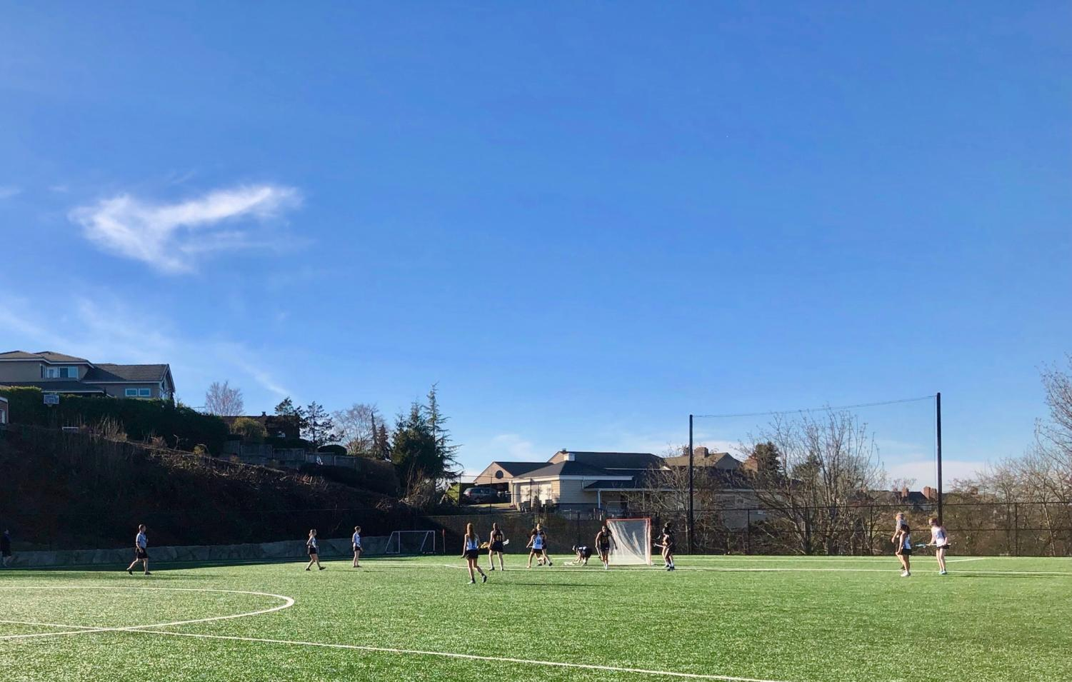 USG plays their first lacrosse game ever at the home James Memorial Field today.