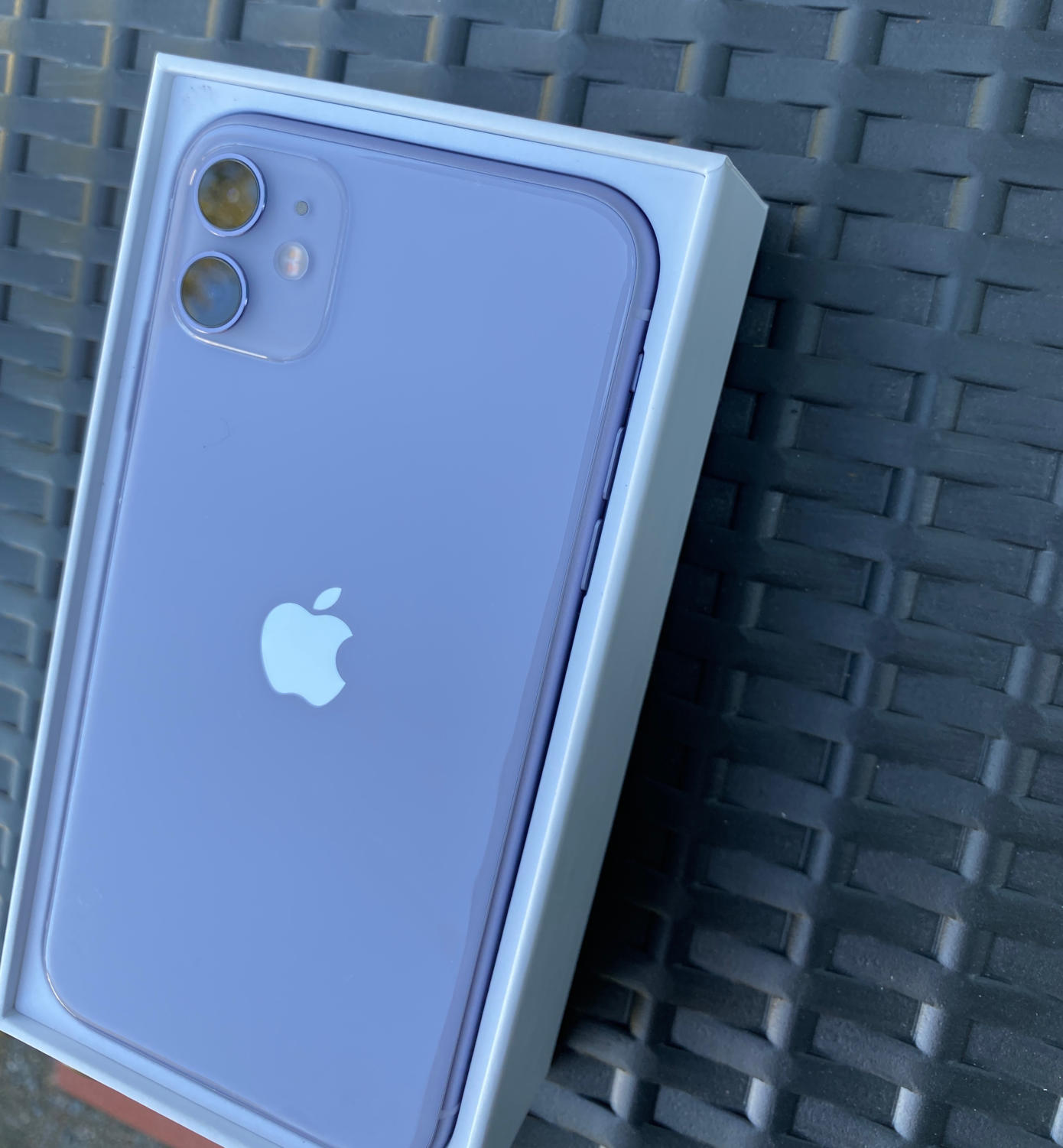 The iPhone 11 in purple