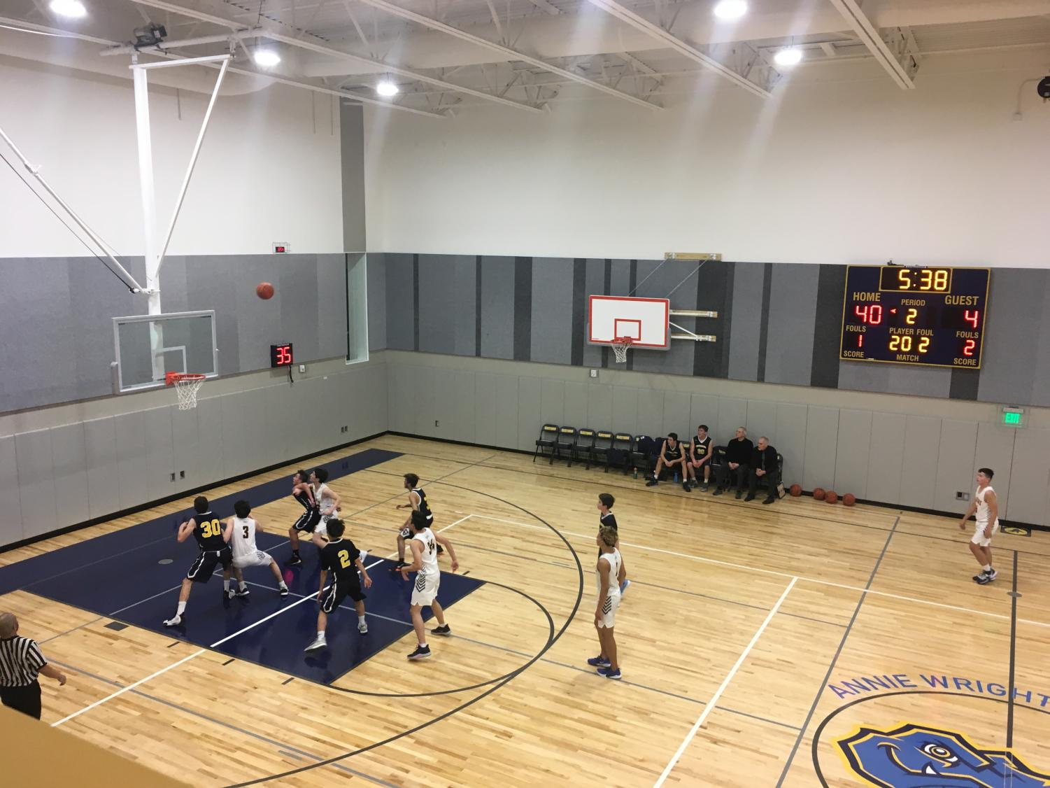 Both Upper School basketball teams have been practicing in the new gym since its opening in December.