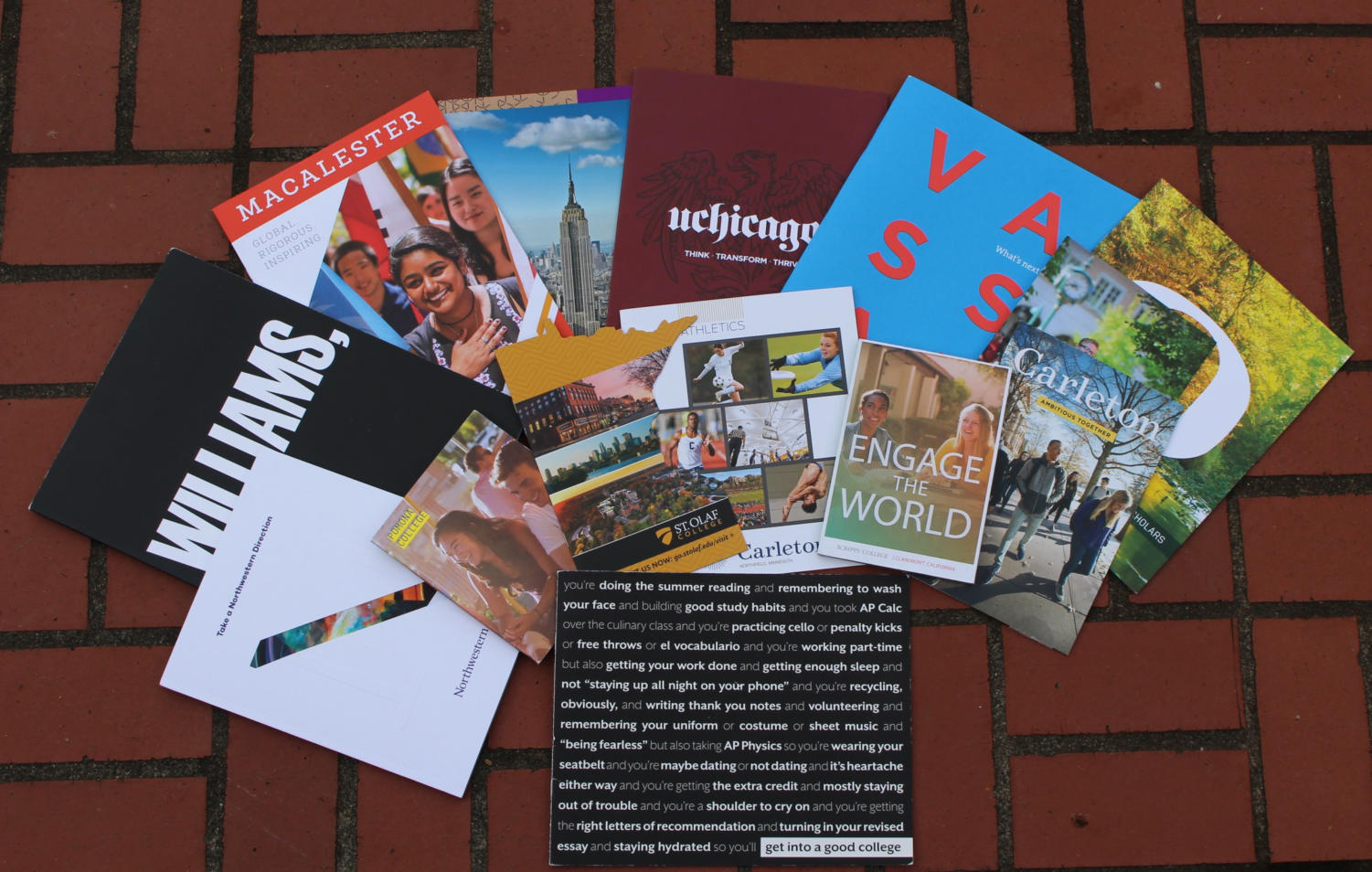 Colleges will send special emails and brochures to students who express specific interest about the institution at a college visit or fair.