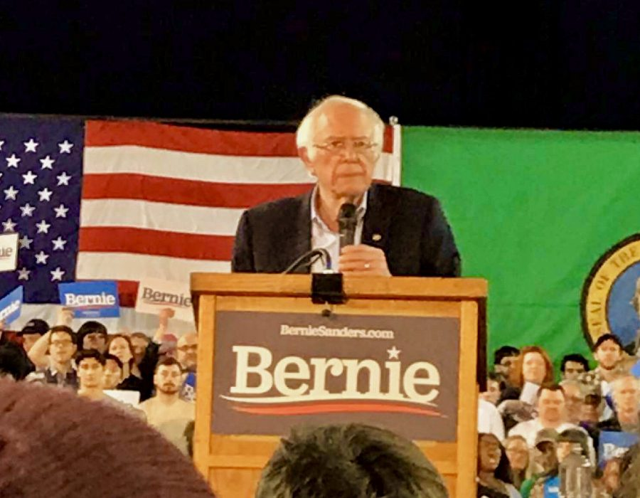 Bernie's recent Tacoma Dome rally on February 17 drew more than 17,000 attendees.