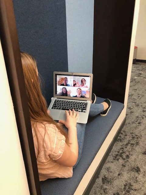 A student practices a virtual school simulation in preparation for a possible closure.