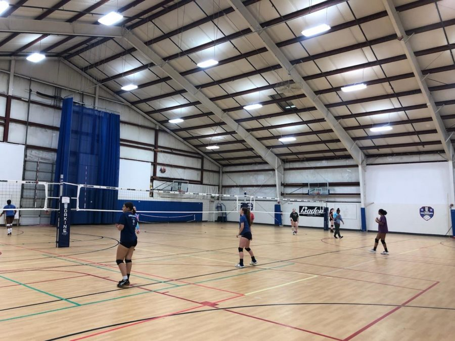 New social distancing guidelines are in effect at a few sports clubs that are still practicing, like Dakine Volleyball Club, pictured here.