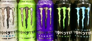 A can of Monster contains 57g of sugar and 169mg of caffeine— more than 2 1/2 cups of espresso.
